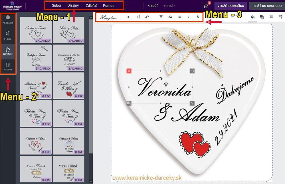 návrhár online svadobných magnetiek