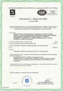 zdravotná nezavadnosť certifikat
