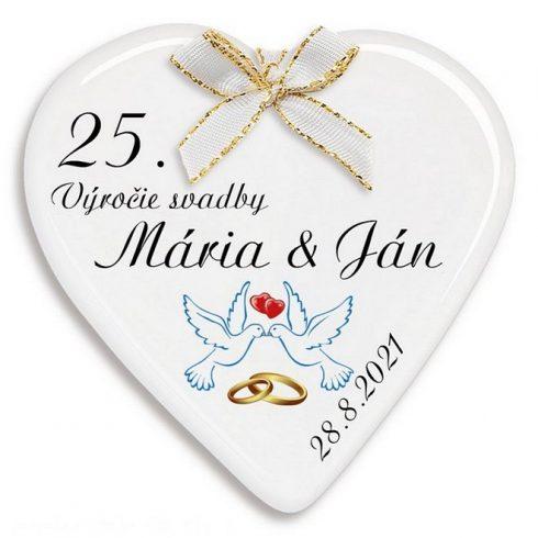 Darčeky na 25 výročie svadby